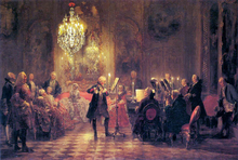 A Flute Concert of Frederick the Great at Sanssouci - Adolph Von Menzel