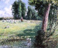 The Goose Girl - Camille Pissarro