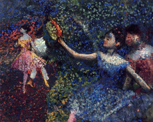 Dancer and Tambourine - Edgar Degas