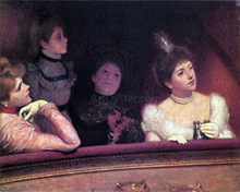 At the Theater - Federico Zandomeneghi