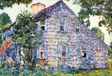 Old House, East Hampton - Frederick Childe Hassam