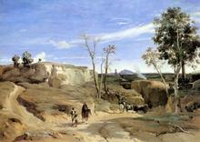 La Cervara, the Roman Countryside - Jean-Baptiste-Camille Corot