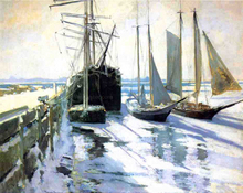 Winter, Gloucester Harbor - John Twachtman
