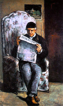 Louis-Auguste Cezanne, Father of the Artist, Reading 'l'Evenement' - Paul Cezanne