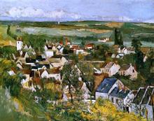 View of Auvers-sur-Oise - Paul Cezanne