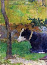 Kneeling Cow - Paul Gauguin
