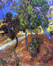 Trees in the Garden of Saint-Paul Hospital - Vincent Van Gogh